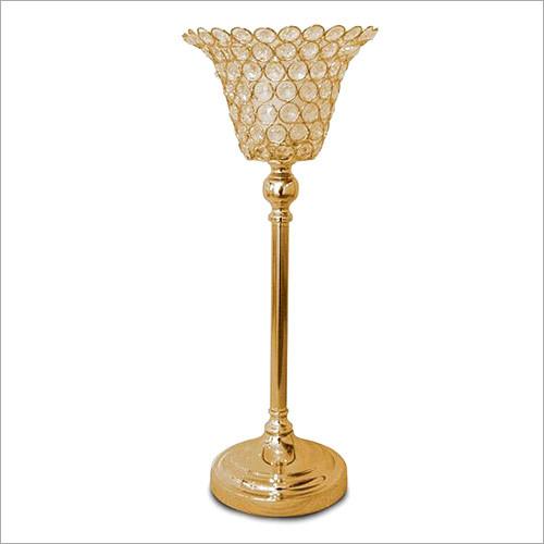 Gold Finish Crystal Candle Holder Tea Light