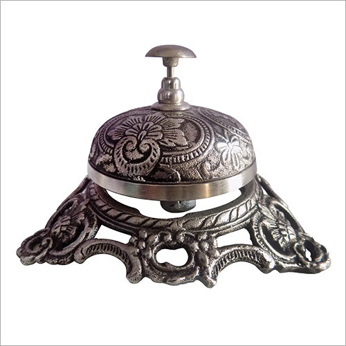 Brass Antique Finish Wire Less Desk Bell