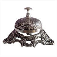 Antique Vintage Style Brass Antique Finish Wire Less Desk Bell