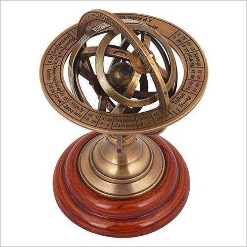 Brass Armilary Desk Globe