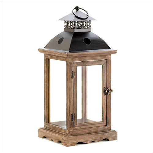 Antique Vintage Style Wooden Lantern