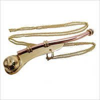 Brass Boatswain Whistle Bosun Call Pipe