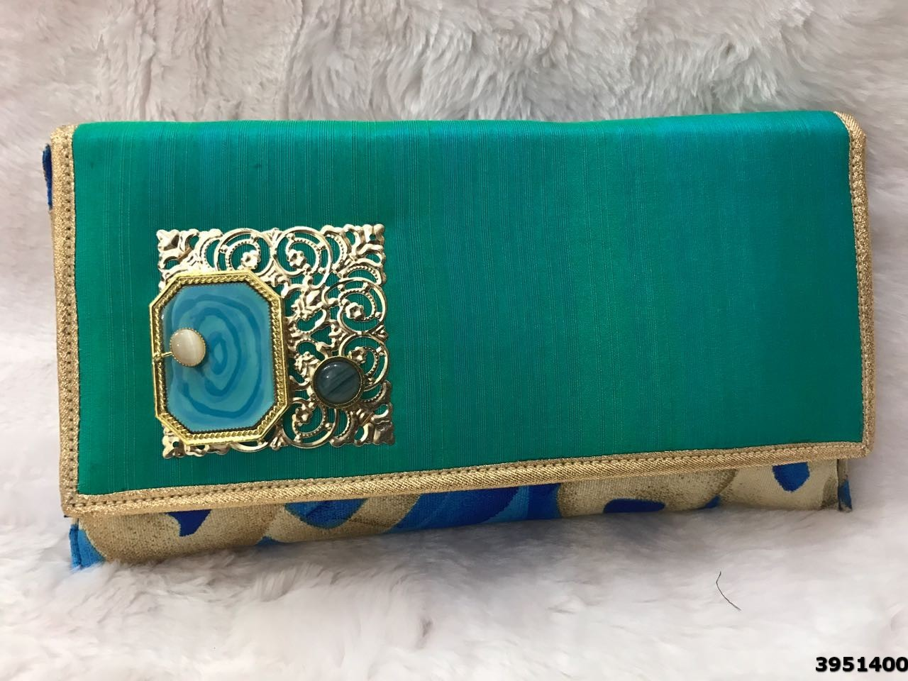 Colorful Embroidered Ladies Clutch
