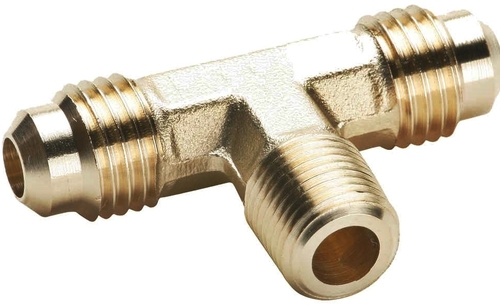 Brass Half Flare Tee For Compression Fittings