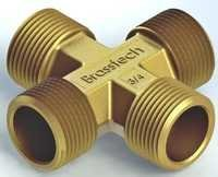 Brass 4 way Connectors For Brass Pipe Fittings