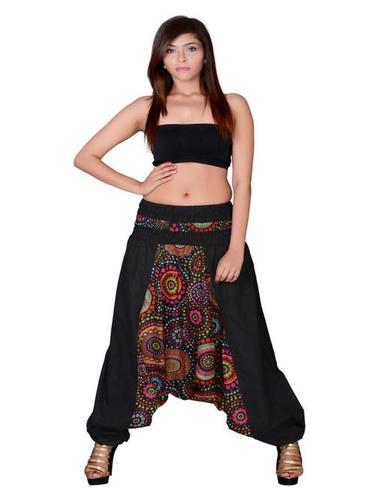 Cotton Party Wear Black Harem Trouser
