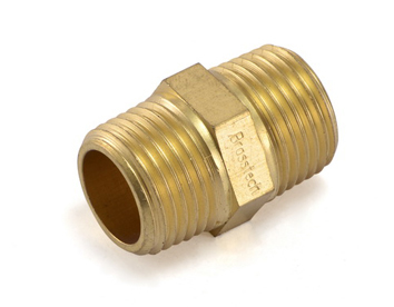 Brass Hex Nipple BSPT For Brass Pipe Fittings