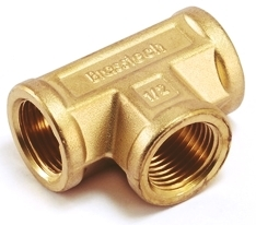 Brass Union Female Tee For Brass Pipe Fittings