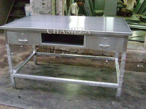 S.S Center Table with Drawer