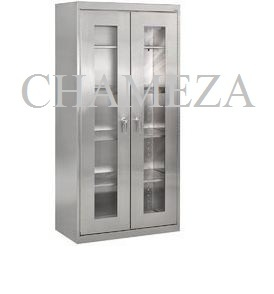 Stainless Steel Almirah with Glass Door