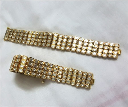 White Diamond Bracelet Set