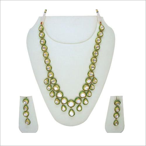 Green Meena Single String Necklace