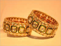 Green Meena Polki Bangle