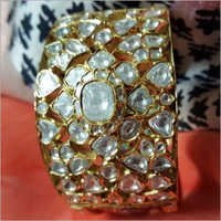 Side Meena White Bangle