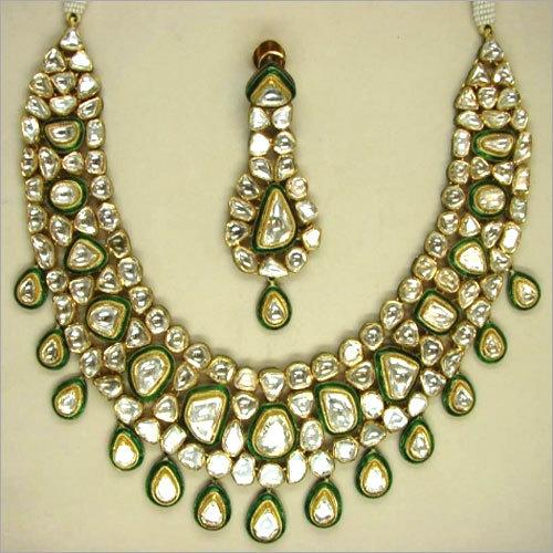 Green Meena Necklace