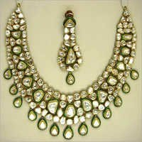 Green Meena Necklace