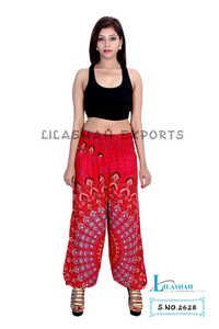 Rayon Mandala Red Color Trouser