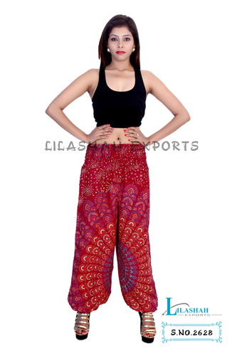 Rayon Mandala Maroon Color Trouser
