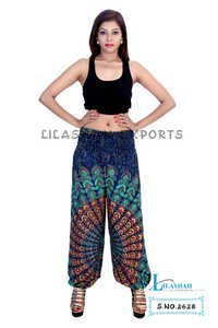 Rayon Mandala Green Color Trouser