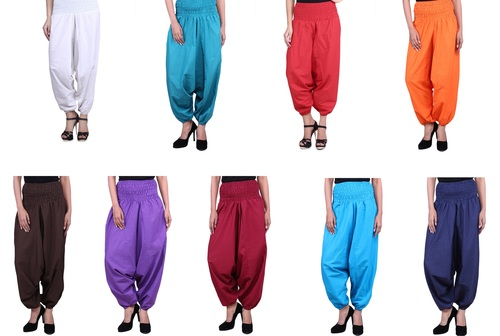 Cotton Plain Afghani Mix Color Trouser