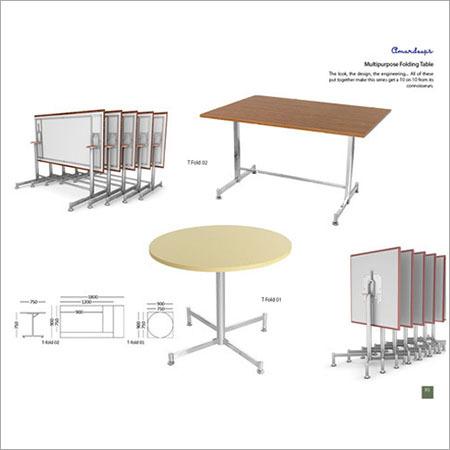 Multipurpose Folding Table T Fold 01  T Fold 02