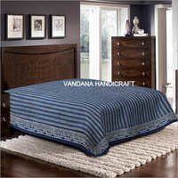 100% Cotton Hand Block Printed Bed Sheet With Pillow Cover