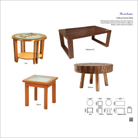 15Coffee & Center Table Neptune 02  Sun  Walnut  Moon