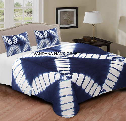 Hand Made TIE Dye Home Decor Bedspread Comford 100% Cotton Bed Sheet King Queen