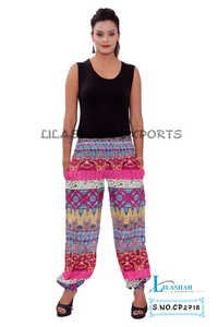 Cotton Printed Pink Color Trouser