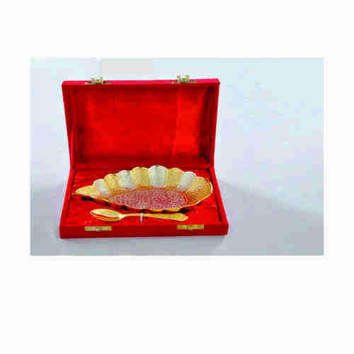 Gold Plated Gift Leaf Shaped Tray