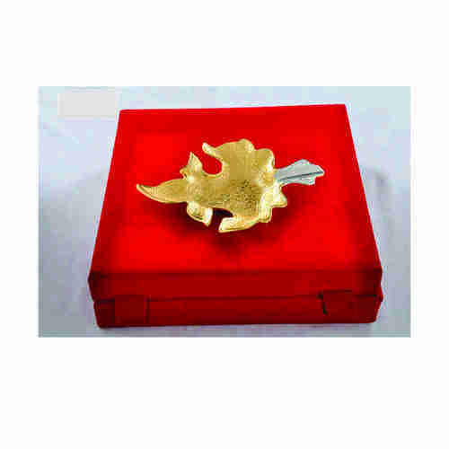 Gold Plated Leaf Tray