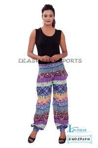 Cotton Printed Purple Color Trouser