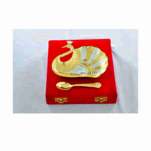 Gold Plated Swan Shape Bowl