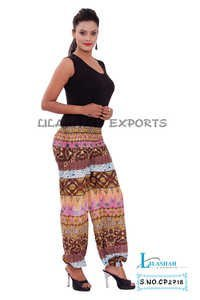 Cotton Printed Brown Color Trouser
