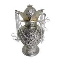 Silver Coating Antique Mangal Kalash with Nariyal