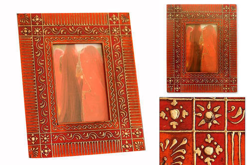 Hand Painted Metal Photo Frame