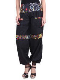 Cotton Plain Black Color Trouser