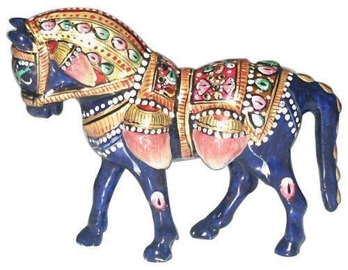 Metal Meenakari Horse