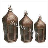 Antique Metal Lamps And Tea Light Holder