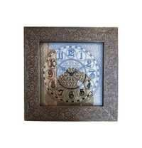 Antique Brass Fitted Square Wall Clock