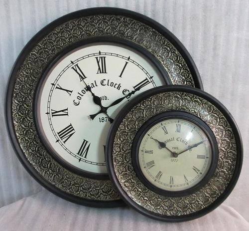 Antique Wooden Brass Fitted Clocks