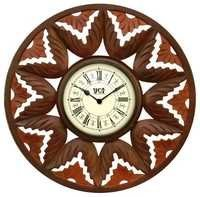 Hand Carved Wooden Wall Clocks