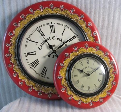 Decorative Wooden Hand Painted Clock