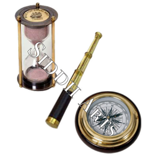 Brass Telescope And Compass