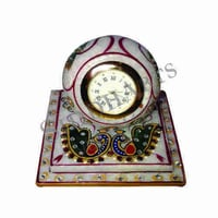 Hand Painted Marble Clock