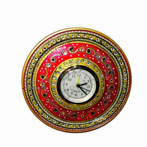 Hand Painted Art Marble Wall Clocks