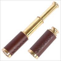 Brass Telescope With Leather Case