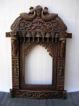 Hand Carved Antique Wooden Jharokha