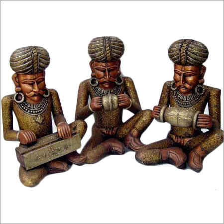 Wooden Handcrafted Musician Set