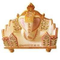 Marble Singhasana Ganesha